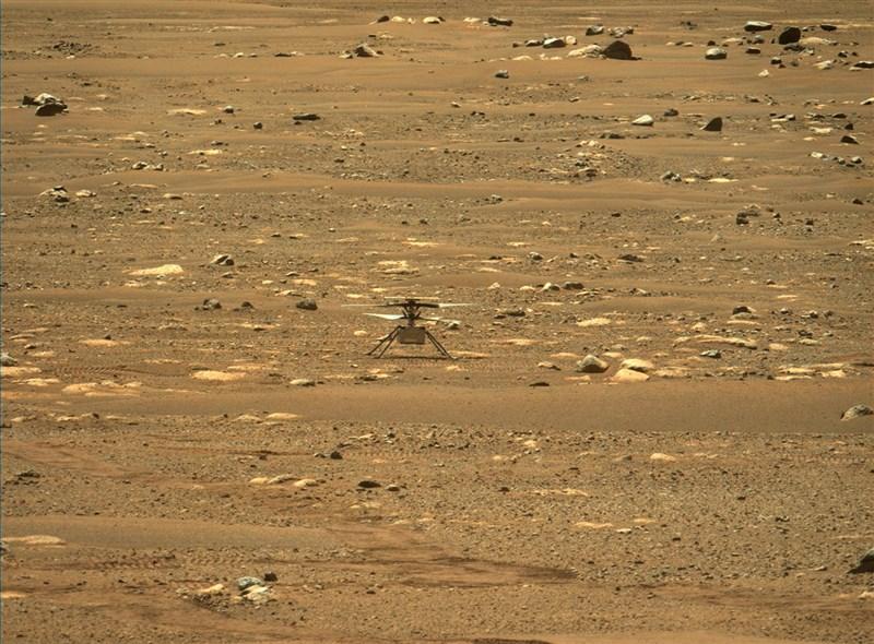美國國家航空暨太空總署(NASA)「創新號火星直升機」19日在火星成功首飛。(圖取自NASA官方網頁mars.nasa.gov)