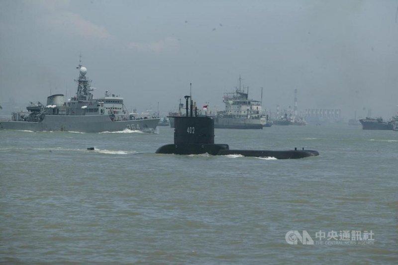 印尼編號KRI Nanggala-402的潛艦21日清晨失聯,潛艦上有53人。(印尼國軍提供)中央社記者石秀娟雅加達傳真 110年4月21日