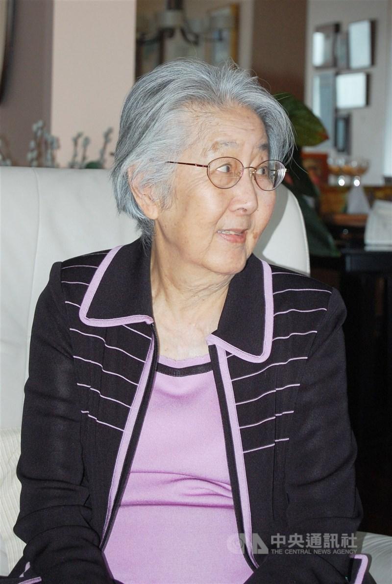 國父孫中山孫女孫穗華16日在美國加州逝世,享耆壽96歲。圖攝於2011年。(中央社檔案照片)