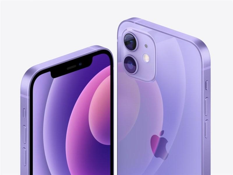 蘋果新端出紫色版iPhone 12、12 mini,遠傳電信21日開放預約登記。(圖取自Apple網頁apple.com)