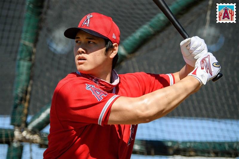 日本球星大谷翔平21日敲出本季第5支全壘打,達成美國、日本職棒合計100支全壘打的里程碑。(圖取自facebook.com/Angels)