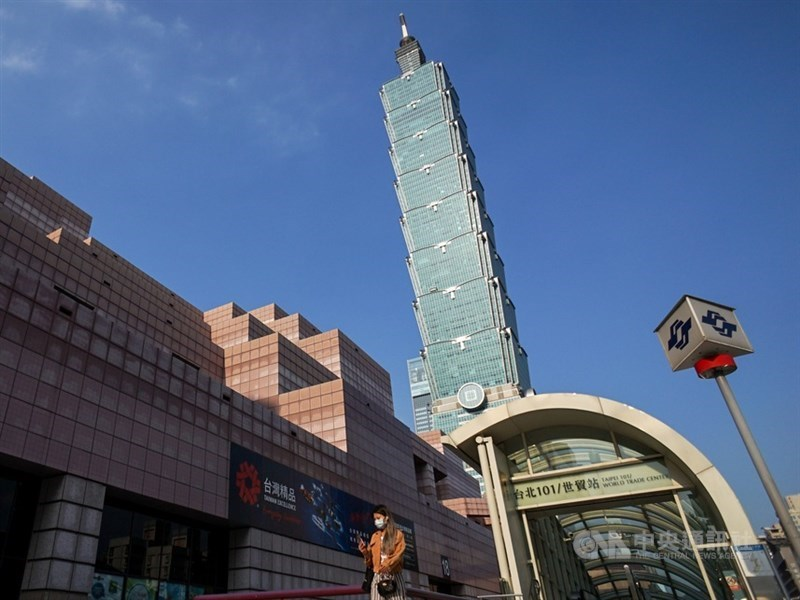 標普全球評級指台灣經濟成長穩健,22日將台灣長期發行體信用評等從原本的「AA-」上調到「AA」。(中央社檔案照片)