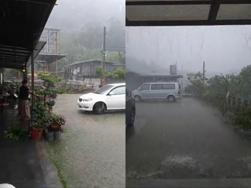 中央氣象局觀測,颱風舒力基為台灣帶來的降雨非常有限,22日午後熱對流讓屏東霧台神山累積降雨逾100毫米,但沒降在集水區。(圖取自臉書facebook.com)