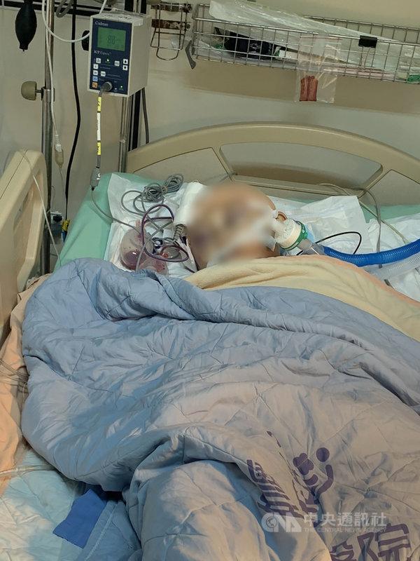 台中一名7歲男童學柔道時,疑被教練及學長重摔多次導致腦部重創昏迷。豐原醫院24日表示,男童腦部手術後腦壓仍然很高,生命跡象不穩定,持續在加護病房治療,依靠呼吸器維生。(家屬提供)中央社記者郝雪卿傳真 110年4月24日