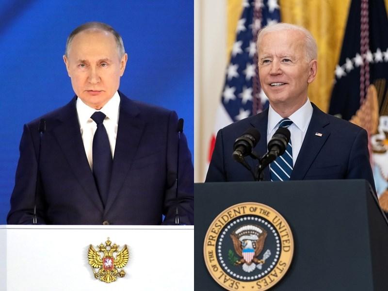 美國白宮25日表示,總統拜登(左)6月與俄羅斯總統蒲亭高峰會時,將討論白俄羅斯迫使客機轉降並逮捕異議記者一事與烏克蘭議題。(左圖取自克里姆林宮網頁en.kremlin.ru,右圖取自facebook.com/POTUS)