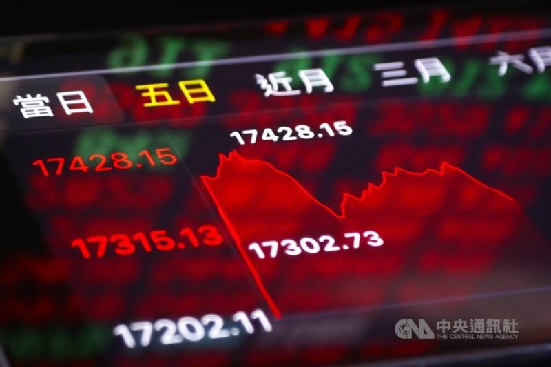 台股22日大盤最高一度來到17428.15點,再創盤中歷史新高。中央社記者王騰毅攝 110年4月22日