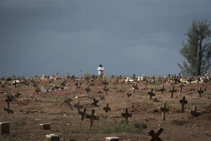 2019冠狀病毒疾病大流行在巴西造成近40萬人死亡。(安納杜魯新聞社)