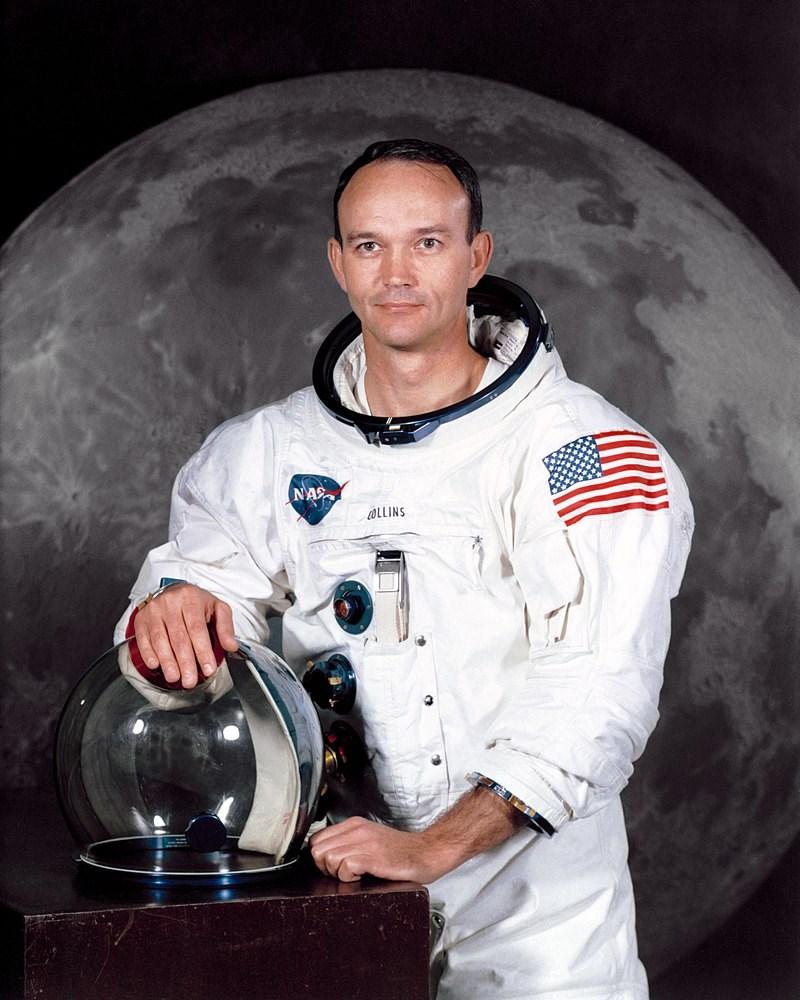 1969年在阿波羅11號計畫中成功登陸月球的美國太空人柯林斯(圖)28日辭世,享耆壽90歲。(圖取自維基共享資源網頁,版權屬公有領域)