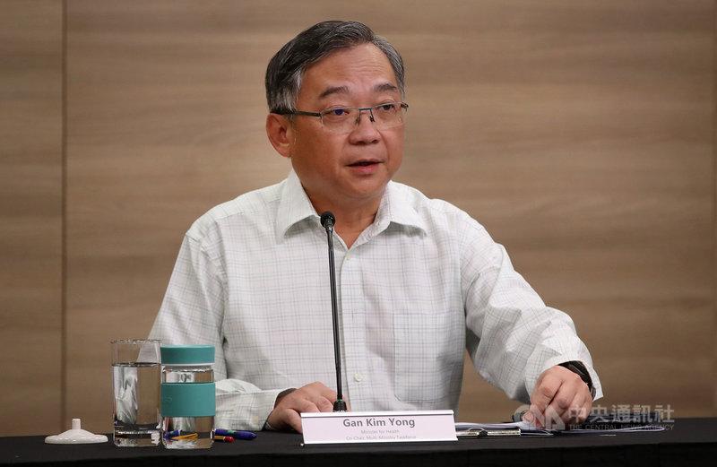 新加坡衛生部長顏金勇30日在跨部會抗疫工作小組線上記者會上表示,過去3週新增的本土案例令人感到擔憂。(新加坡通訊及新聞部提供)中央社記者侯姿瑩新加坡傳真 110年4月30日