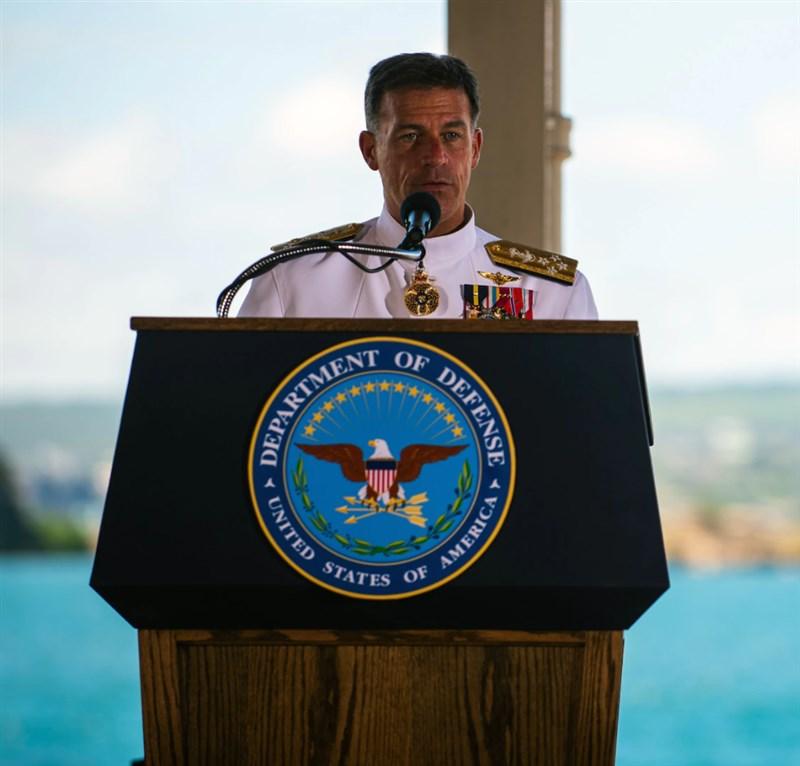 美國海軍上將阿基里諾(圖)接替戴維森出任美國印太司令部司令。(圖取自美國印太司令部網頁www.pacom.mil)