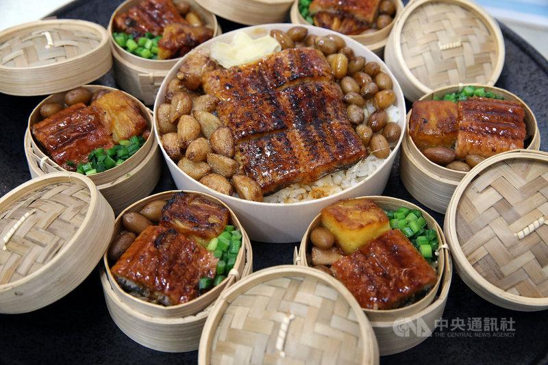 近年鰻魚復育良好,加上疫情影響,台灣區鰻魚發展基金會等業界與農委會3日宣布在10個國道服務區推出8款特色鰻魚餐點。中央社記者郭日曉攝 110年5月3日