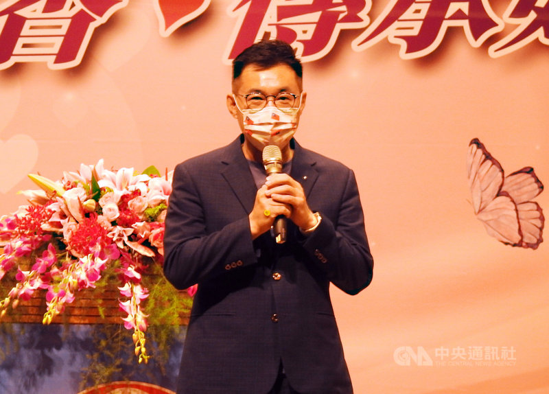 針對國民黨主席選舉相關議題,黨主席江啟臣4日受訪表示,黨內選舉是一個民主過程,應該以平常心看待;這就是黨內分工的選舉過程,大家不用看成是一場戰役或零和的遊戲。中央社記者王鴻國攝  110年5月4日