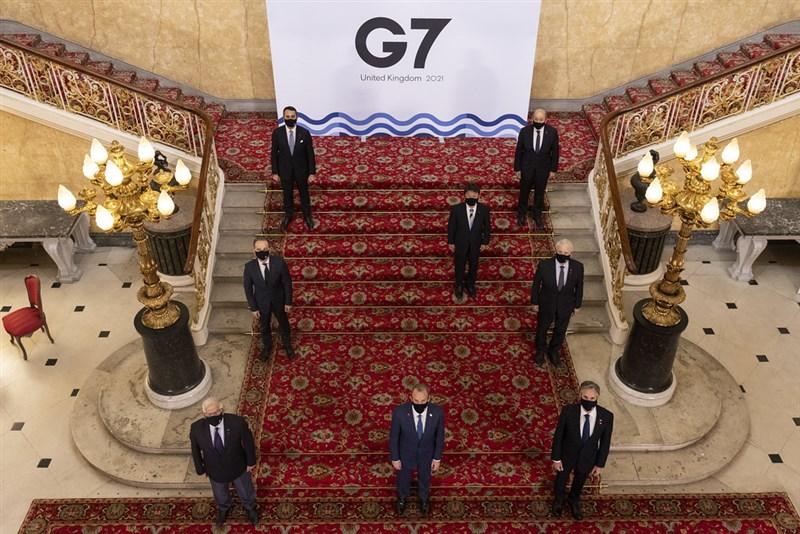 七大工業國集團(G7)外長5日在倫敦舉行會議,公報提及重視台灣海峽和平及穩定的重要性。(圖取自twitter.com/g7)