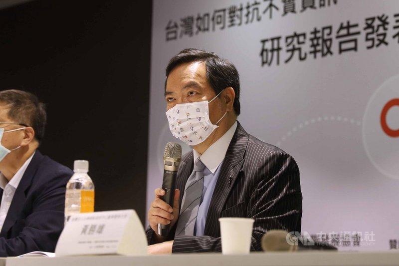 行政院政委兼發言人羅秉成6日表示,台灣因應假訊息的跨部門合作仍有強化必要。中央社記者游凱翔攝 110年5月6日