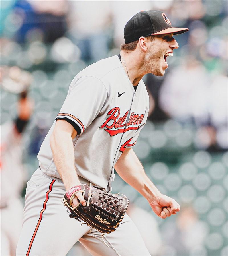巴爾的摩金鶯左投泯恩斯5日獨自投出MLB本季第3場無安打比賽。(圖取自twitter.com/Orioles)