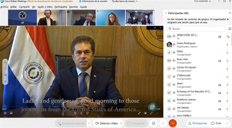美國與台灣巴拉圭使館與巴拉圭政府日前舉辦視訊會議,尋求再生能源與電動汽車領域上的合作。(圖取自巴拉圭工商部網頁www.mic.gov.py)