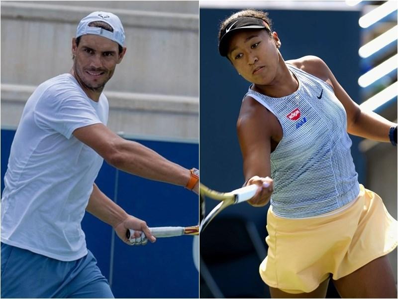 勞倫斯世界體育大獎年度最佳男、女運動員得主分別是納達爾(左)、大坂直美(右),都是網球選手。(左圖取自twitter.com/RafaelNadal,右圖共同社)