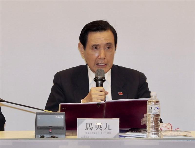 前總統馬英九(圖)在一場研討會中評論說,台灣對中國出口依賴加重。經濟部回應指出,台灣對中國出口成長,「是中國依賴台灣」。(中央社檔案照片)