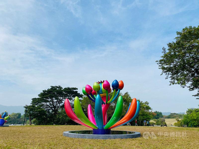 台灣藝術家賴純純創作的「奇花仙境」將與17件來自世界各地的創作,在東倫敦的金融區聯展。(駐英文化組提供)中央社記者戴雅真倫敦傳真 110年5月9日
