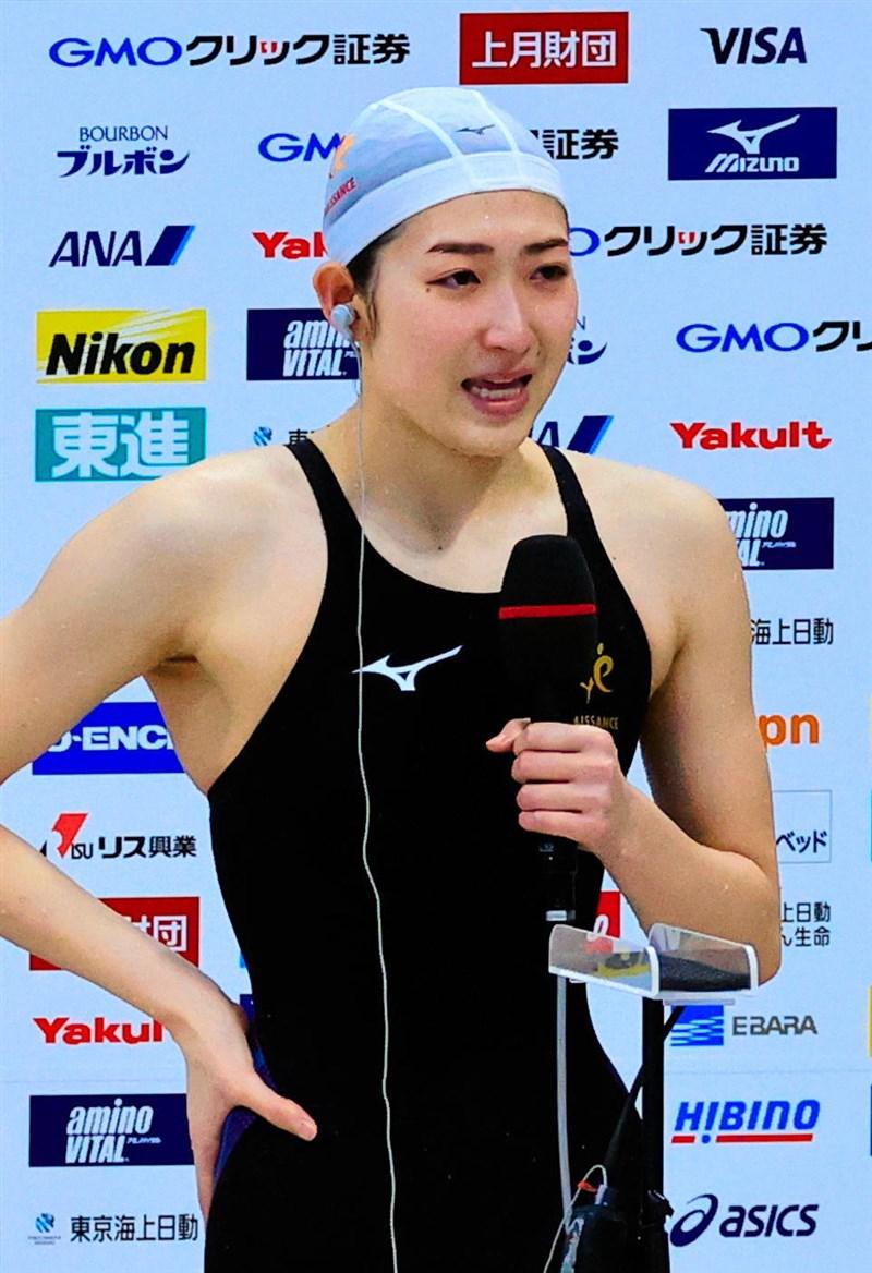 日本女泳將池江璃花子最近遭民眾要求反對舉辦東奧,引起熱議。(共同社)