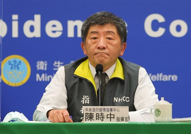中央流行疫情指揮中心指揮官陳時中11日說,國內已進入社區感染階段。(中央社檔案照片)
