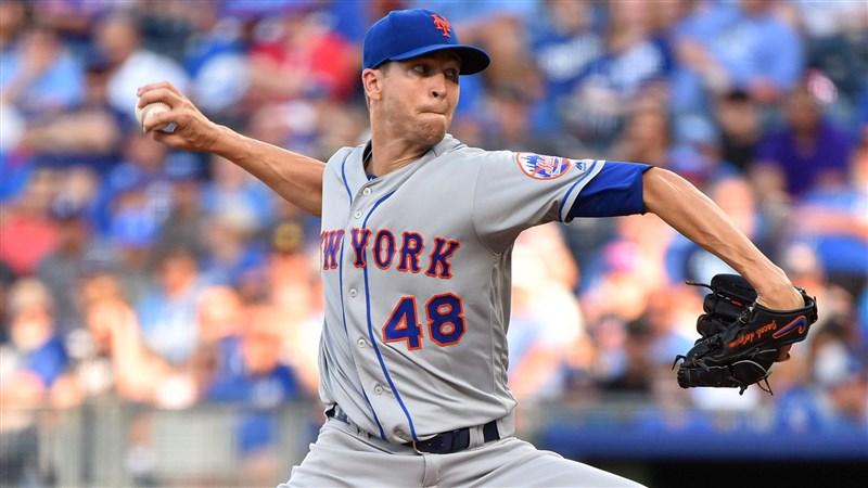 美國職棒大聯盟紐約大都會隊10日宣布,陣中王牌投手迪格隆因右側肌肉緊繃進入10天傷兵名單。(圖取自facebook.com/Mets)