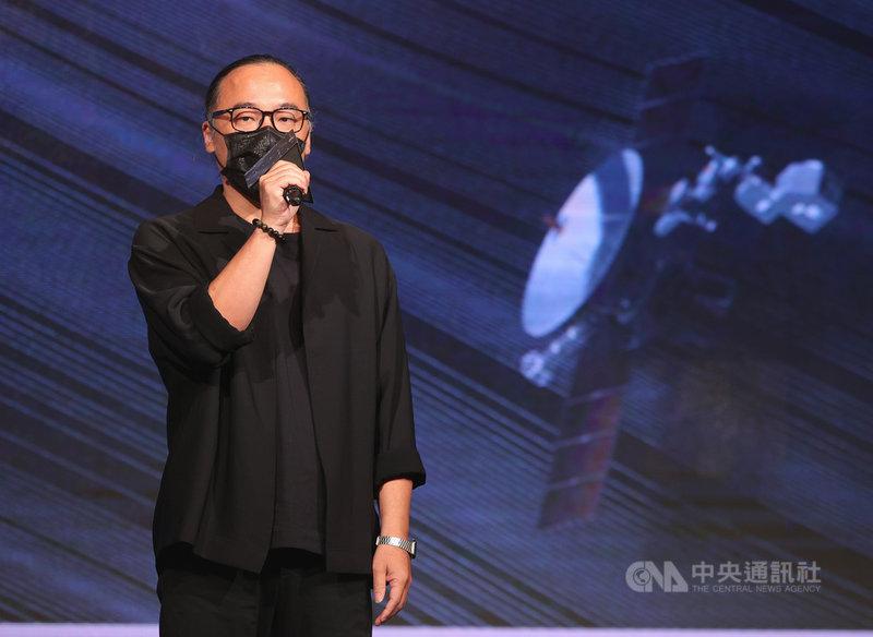 第32屆流行音樂金曲獎入圍名單公布記者會12日下午在台北舉行,本屆評審團主席鍾成虎出席並致詞。中央社記者謝佳璋攝  110年5月12日