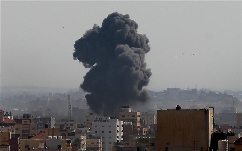 以色列、巴勒斯坦爆發數年來最嚴重衝突。圖為以色列戰鬥機11日轟炸巴勒斯坦建築。(安納杜魯新聞社)
