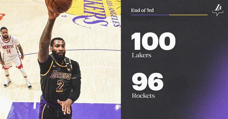 NBA湖人能拿下三連勝,何頓-塔克貢獻23分並有10次助攻,德拉蒙(灌籃者)拿下20分和10籃板,庫茲馬則有19分、10籃板和7助攻。(圖取自twitter.com/Lakers)