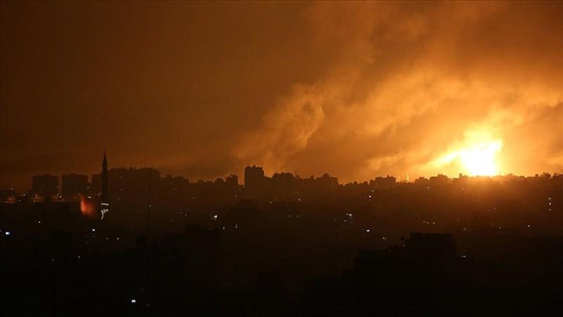 以色列部隊14日在加薩走廊發動攻擊。(安納杜魯新聞社)