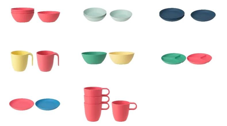 日本宜家家居植物材質聚乳酸製塑膠食器遇熱恐有破損之虞,將自主回收約9萬6000個產品。(圖取自日本IKEA網頁www.ikea.com/jp)