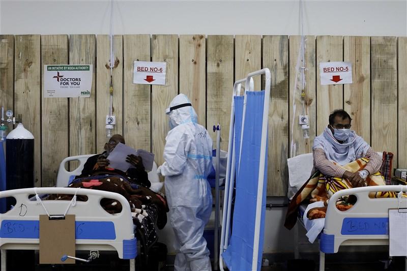 一名旅居印度西部古茶拉底省台商的妻子先前確診感染武漢肺炎,23日下午送醫不治。圖為印度一間COVID-19照護中心。(安納杜魯新聞社)