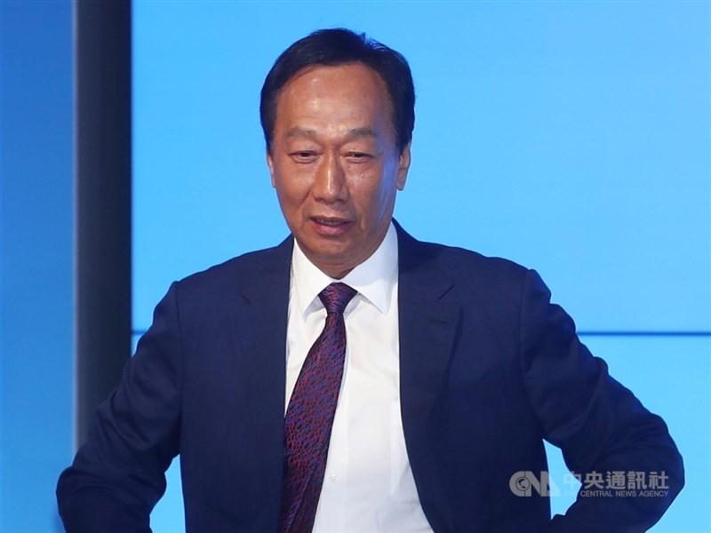 鴻海創辦人郭台銘12日在臉書發文表示,已完成BNT疫苗採購及捐贈相關合約簽署。(中央社檔案照片)
