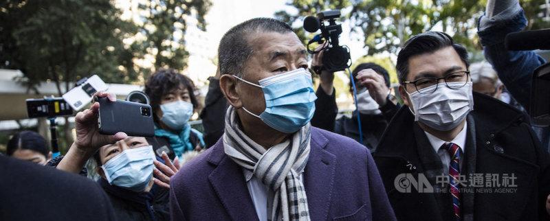 無國界記者組織(RSF)28日向聯合國發出緊急呼籲,要求聯合國一切必要措施,使香港壹傳媒集團創辦人黎智英(中)立即獲釋。(RSF提供)中央社記者葉冠吟傳真 110年5月29日