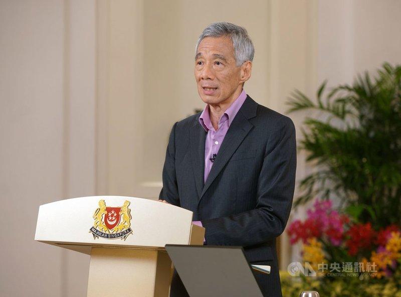 新加坡總理李顯龍31日發表全國演說表示,星國將加速推動檢測、接觸者追蹤及疫苗接種,以對抗COVID-19疫情。(新加坡通訊及新聞部提供)中央社記者侯姿瑩新加坡傳真 110年5月31日