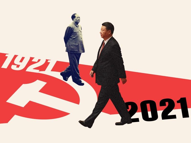 中國共產黨將在7月1日慶祝建黨百年,鋪天蓋地的紅色宣傳,不乏對台灣的統戰訴求。中央社跨國新聞專題帶您透視百年中共 洞悉台灣未來。(中央社)