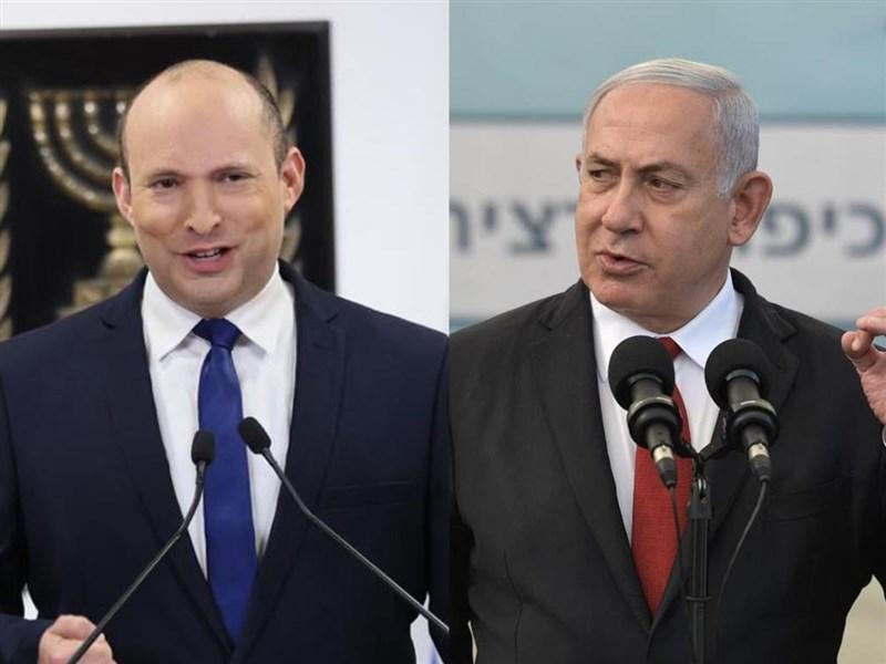 以色列極右派政黨聯盟右傾領導人班奈特(左)有望組成新政府,終結總理尼坦雅胡(右)12年執政。(圖左至右取自facebook.com/NaftaliBennett、facebook.com/Netanyahu)
