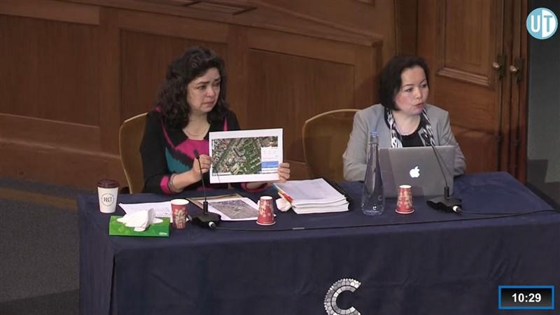 專門調查中國維吾爾人困境的「維吾爾獨立法庭」4日在英國倫敦開會聽取證詞,內容包括遭受虐待和集體性侵。(圖取自Uyghur Tribunal YouTube頻道網頁youtube.com)