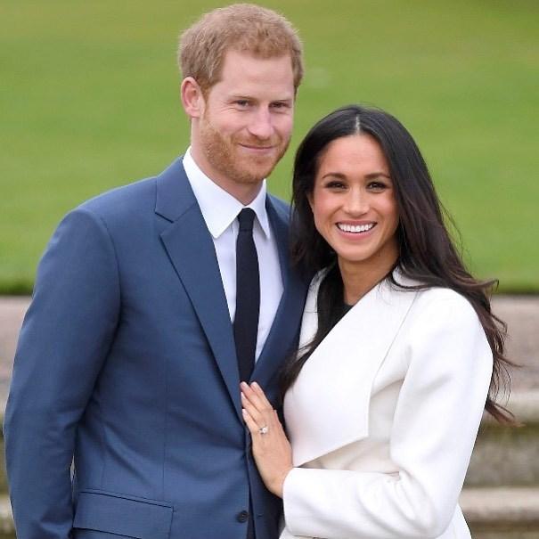 英國哈利王子(左)的妻子梅根(右)第2胎產女,王室家族聞訊感到欣喜。(圖取自instagram.com/meghanmarkle_official)
