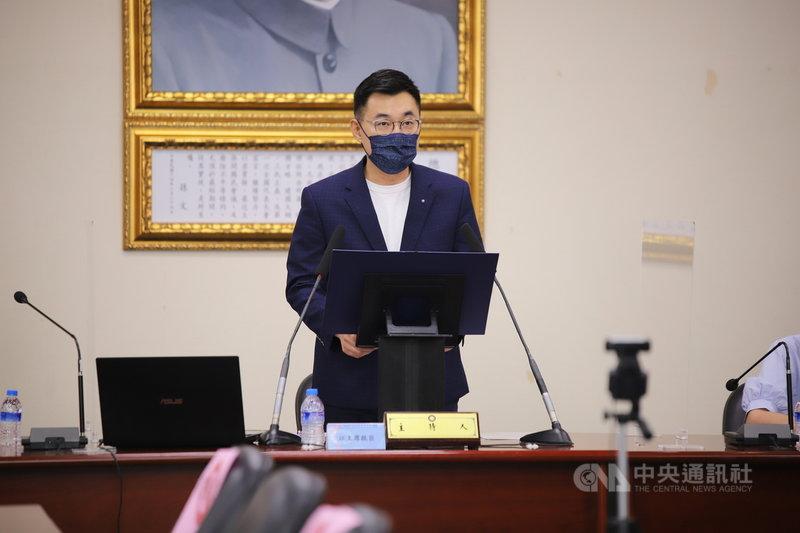 國民黨主席江啟臣9日表示,希望中共能以蒼生為念,堅持人道精神,無須對台灣從各方爭取疫苗的努力,做不必要的政治解讀。(國民黨提供)中央社記者劉冠廷傳真  110年6月9日