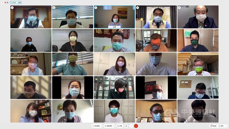 民進黨9日召開中常會,因應疫情嚴峻時刻,採用線上視訊會議方式進行。(民進黨提供)中央社記者葉素萍傳真 110年6月9日