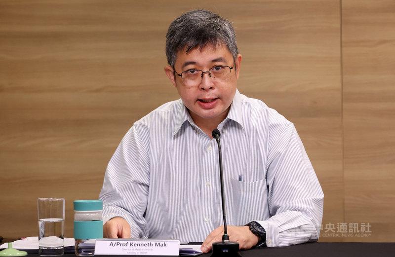 新加坡衛生部醫藥服務總監麥錫威10日表示,開放民眾到藥局購買DIY快速抗原檢測試劑組,初期每人限購10組。(新加坡通訊及新聞部提供)中央社記者侯姿瑩新加坡傳真  110年6月10日