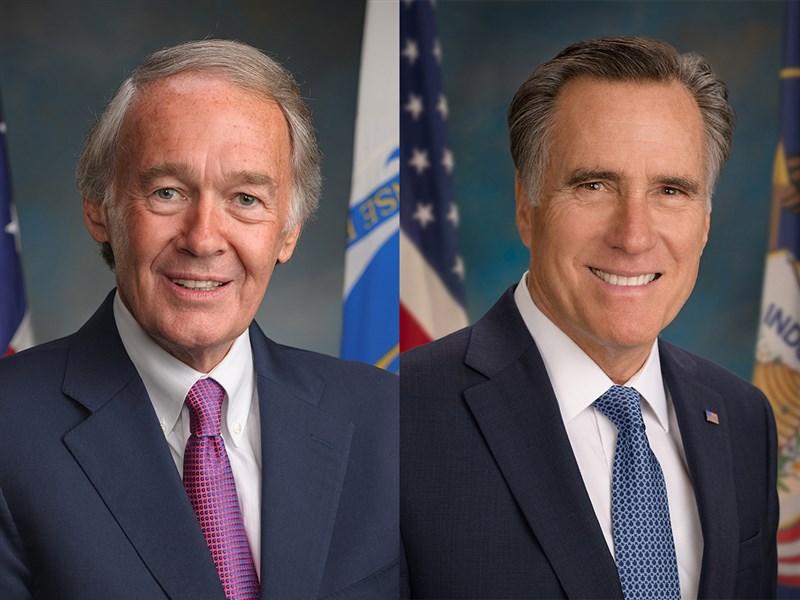 美國聯邦參議員馬基(左)與羅姆尼(右)9日發表聲明表示,將於下週召開聽證會談強化美台關係。(圖取自美國參議院網頁senate.gov)