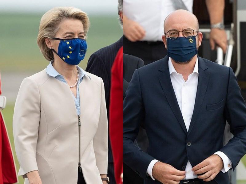 G7領袖峰會11日登場,繼美國及英國支持徹查2019冠狀病毒疾病來源後,歐盟也表態支持。歐洲理事會主席米歇爾(右)及歐洲聯盟主席范德賴恩(左)將出席峰會。(圖取自instagram.com/g7)