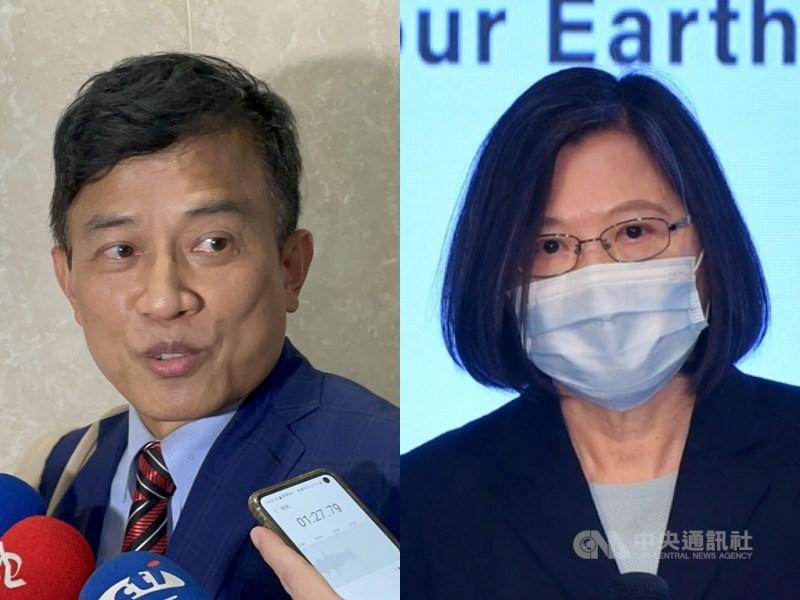 對於資深媒體人彭文正(左)指總統蔡英文(右)已接種輝瑞BNT疫苗,總統府發言人張惇涵13日表示,這是不折不扣的謠言。(中央社檔案照片)