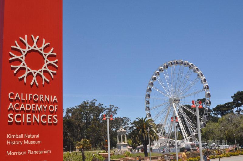 加州將於美西時間15日解封,舊金山加州科學館仍將要求訪客持續戴口罩,館方認為兒童與未接種疫苗的成人混在一起時,還是有些風險。圖為加州科學館一景。中央社記者周世惠舊金山攝  110年6月14日