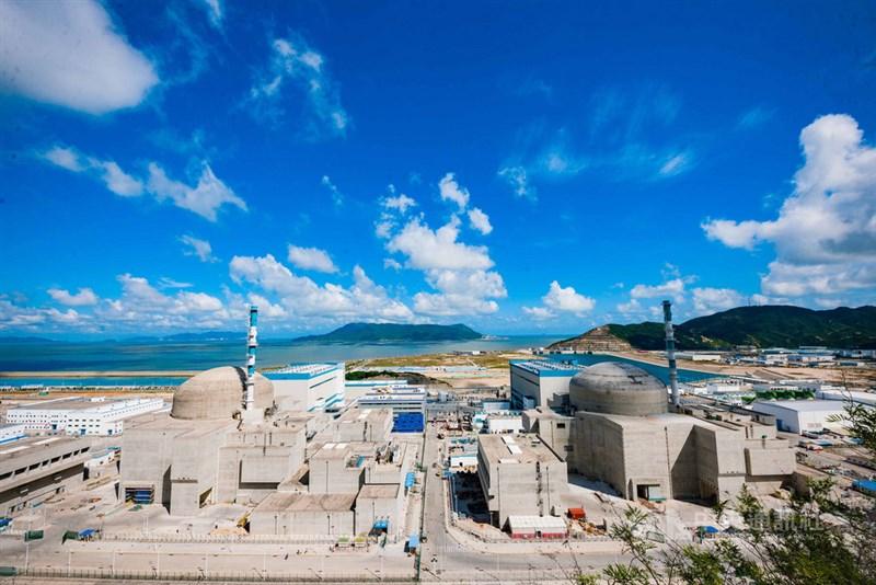 廣東台山核電廠(圖)傳出氣體外洩,中國外交部發言人趙立堅15日宣稱,周邊輻射環境指標未見異常,安全有保障。(中新社)