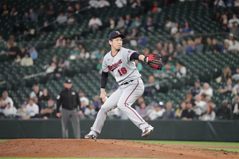 MLB明尼蘇達雙城日籍投手前田健太14日傷癒復出,先發主投4局三振打者7人次,達成美日職通算生涯2000K。(圖取自twitter.com/maeken1988)