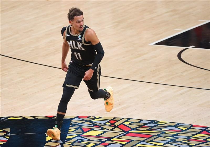 NBA亞特蘭大老鷹14日在楊恩(圖)帶領下以103比100險勝費城76人。(圖取自twitter.com/ATLHawks)
