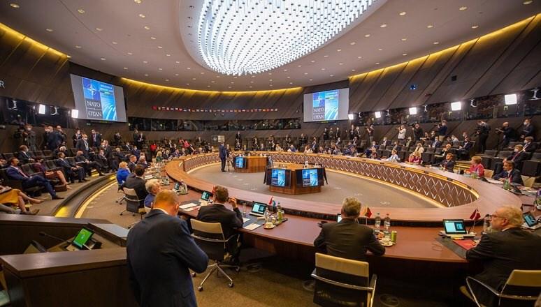 北大西洋公約組織(NATO)14日在布魯塞爾召開高峰會,會後公報10度提到中國,指中國構成系統性挑戰。(圖取自twitter.com/NATOpress)